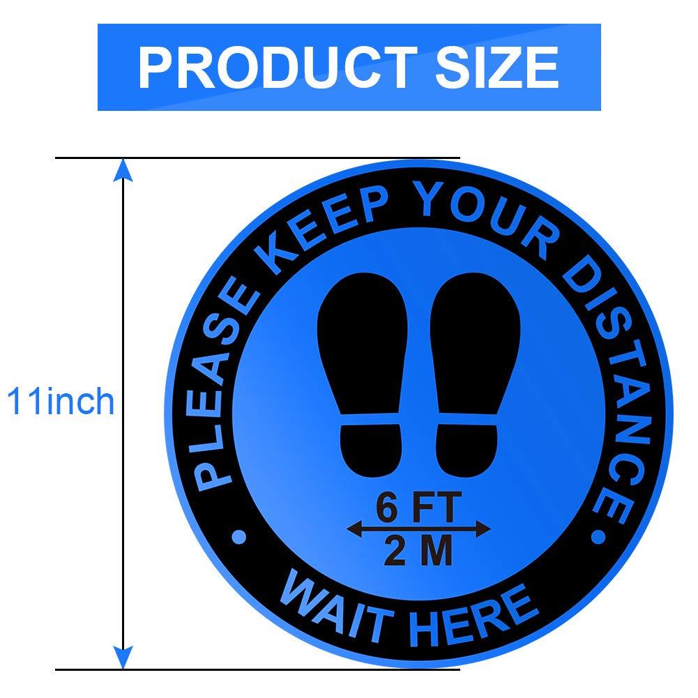 Waterproof vinyl Sticker A6 sign KEEP 2m APART SOCIAL DISTANCE office shop cafe