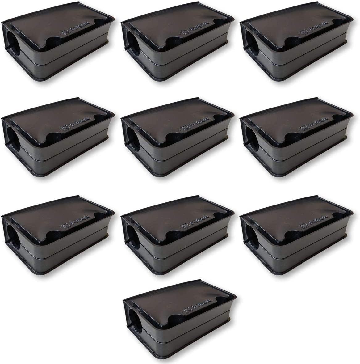 En 10 cajas plásticas – para aprovechar del Poison contra ratón