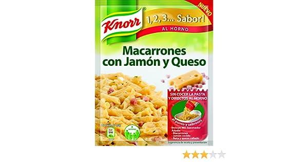 Knorr - Macarrones Jamon Y Queso, 28g - [Pack de 9]: Amazon.es: Alimentación y bebidas