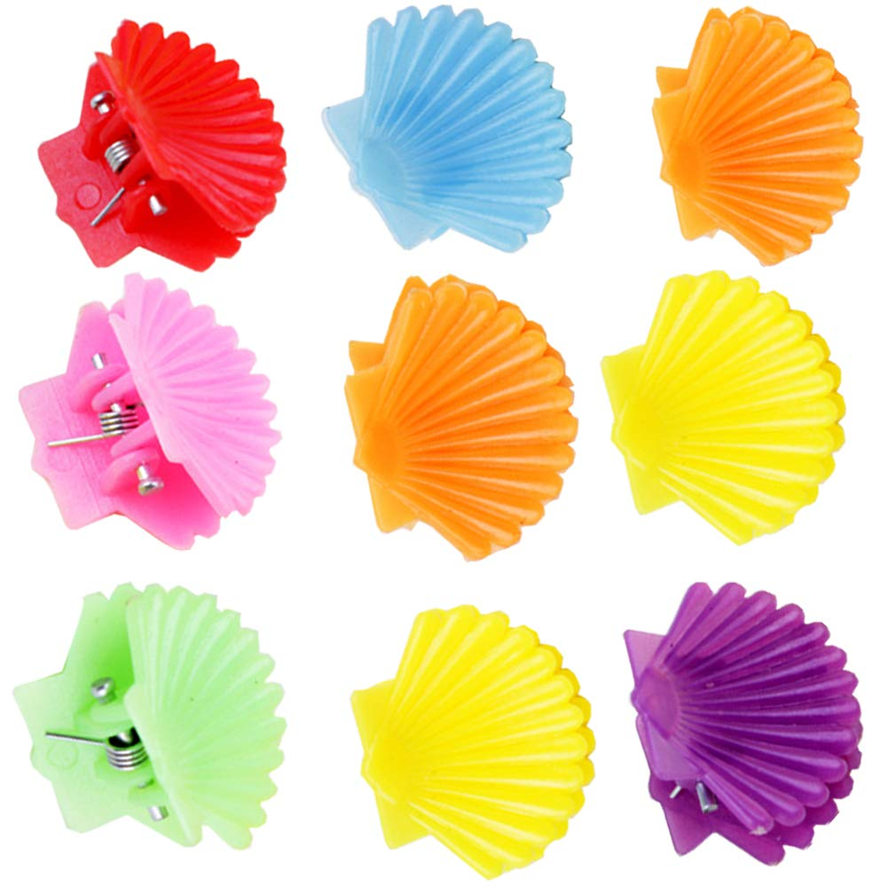 5 inch Jaw Clip Classic Scalloped Hair Claw Women Girls Colorful Hair Accessory