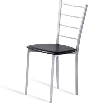 1 Mesa Fija 110x70 Blanco 4 sillas Portus Conjunto Tulipa