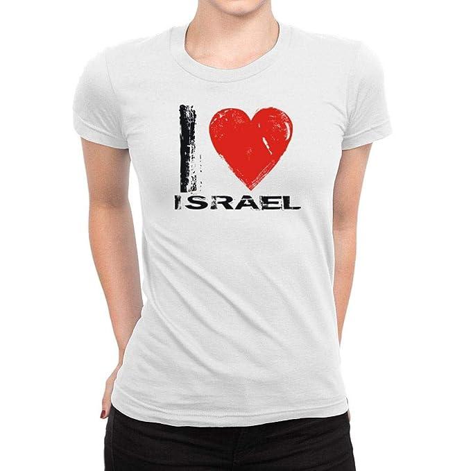 d6ae80648 Amazon.com: Idakoos I Love Israel Vintage Women T-Shirt: Clothing