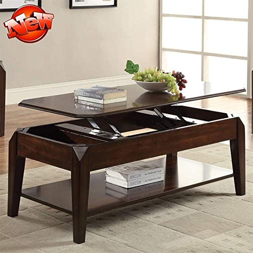 TYNAWYNW New Version Higher Quality Lift Top Coffee Table