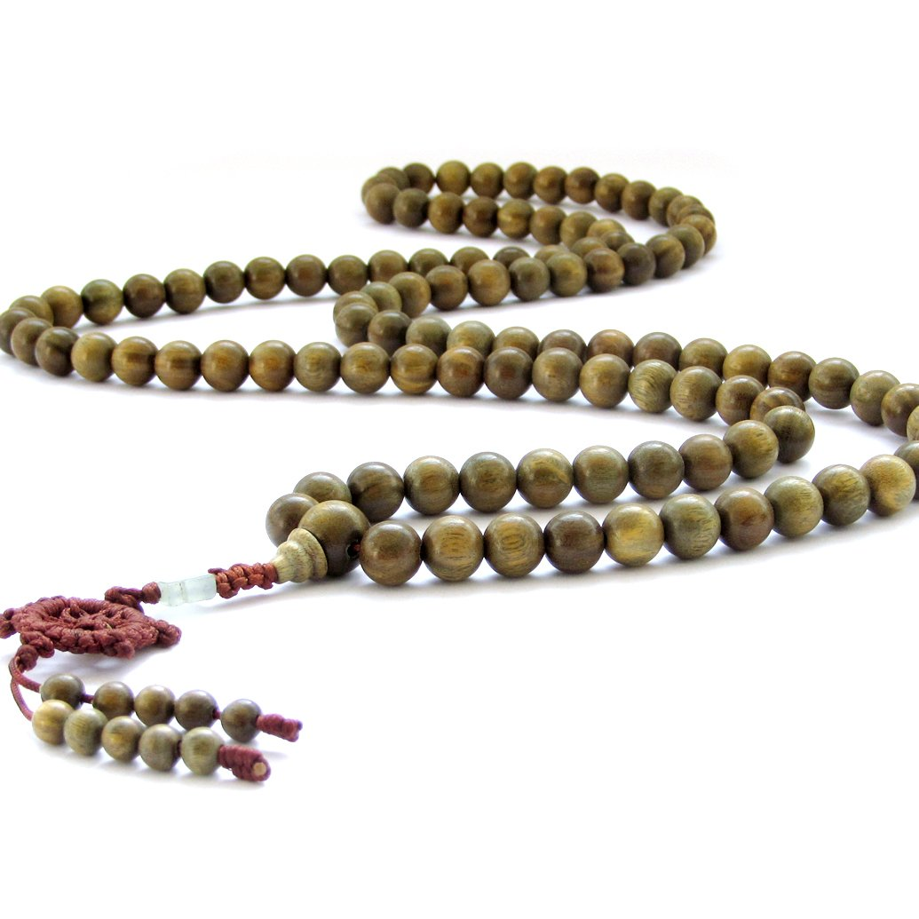 10mm Green Sandalwood Beads Tibetan Buddhist Prayer Meditation Mala Necklace Ovalbuy ZZ002