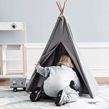 Kids Concept children s mini teepee play tent in grey  Amazon.co.uk ... 73622defffcfe