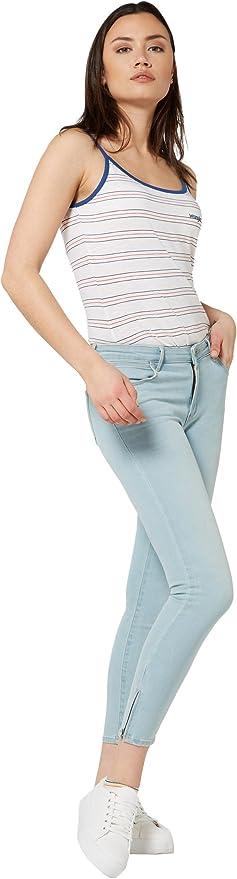 TALLA 24W / 32L. Wrangler Crop Zip Vaqueros Skinny para Mujer