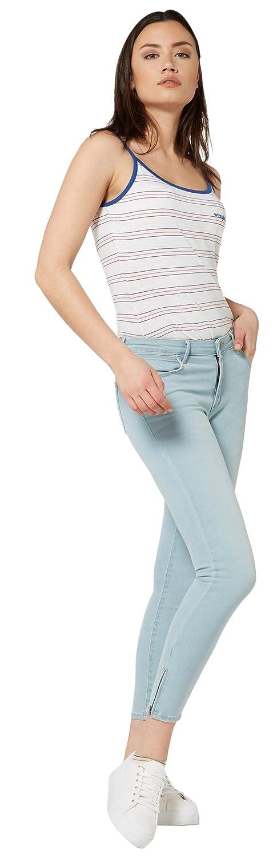 TALLA 29W / 30L. Wrangler Crop Zip, Vaqueros Skinny para Mujer