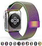 (US) Leefrei Apple Watch Band, Milanese Loop Woven Stainless Steel Mesh with Magnetic Closure Bracelet Replacement Strap for Apple Watch Series 2 Series 1 38mm - Colorful