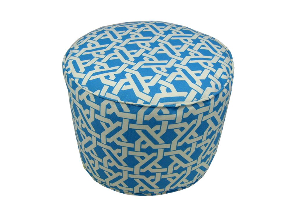 Lava 54027.474 Indoor Or Outdoor 17x17 Round Pouf In Terrace Pool