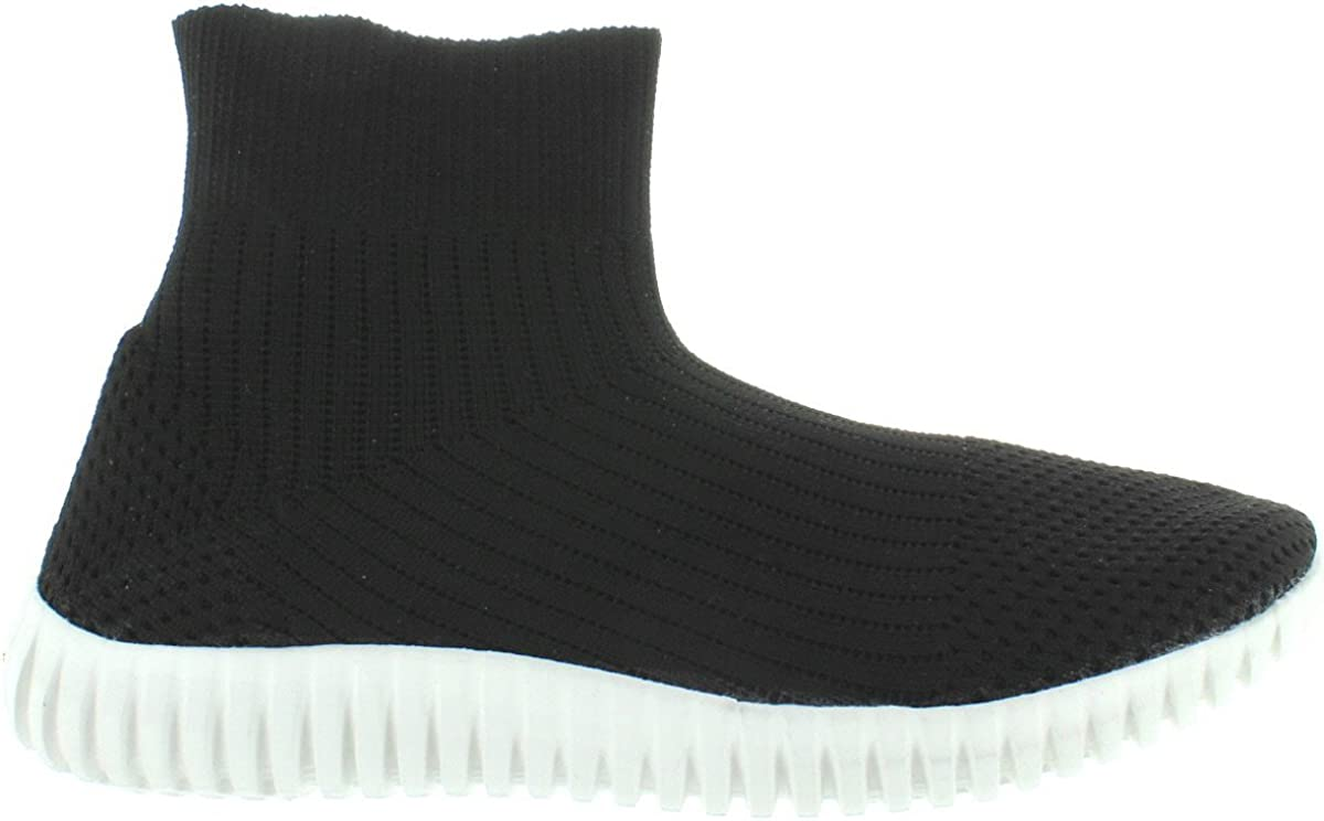 Dirty Laundry Helix Black Stretch Knit Sock Sneaker