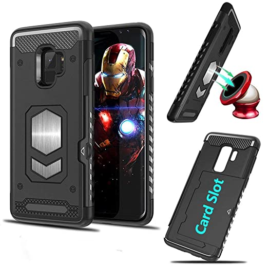 sneakers for cheap 59165 ff042 Amazon.com: Galaxy A8 Plus 2018 Case, TPU + PC Magnetic Car Mount ...