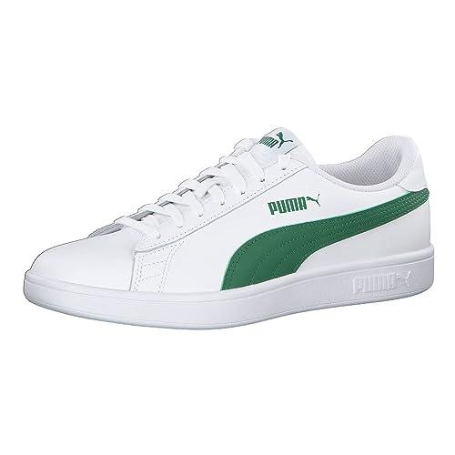 Puma Smash V2 L, Zapatillas Unisex Adulto, Blanco (Puma White-Puma White 7), 39 EU