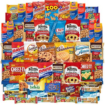 Cookies and Candies Snacks Variety Pack Bulk Sampler Assortment (Care Package 50 Count)