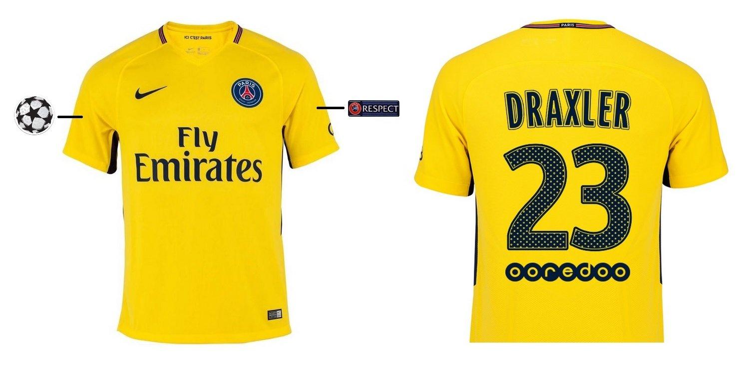 Trikot Kinder Paris Saint-Germain 2017-2018 Away UCL - Draxler 23