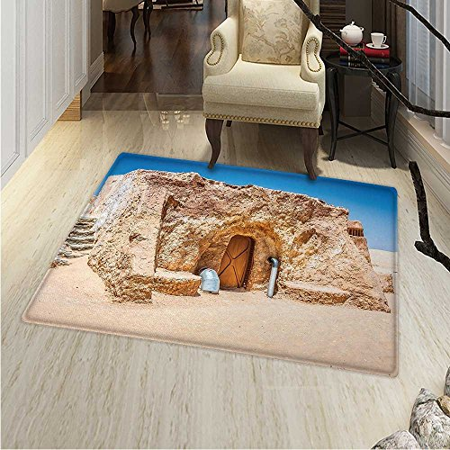 Galaxy Anti-Skid Area Rug One of Abandoned Sets of Movie in Tunisia Desert Phantom Menace Galaxy Themed Image Soft Area Rugs 48
