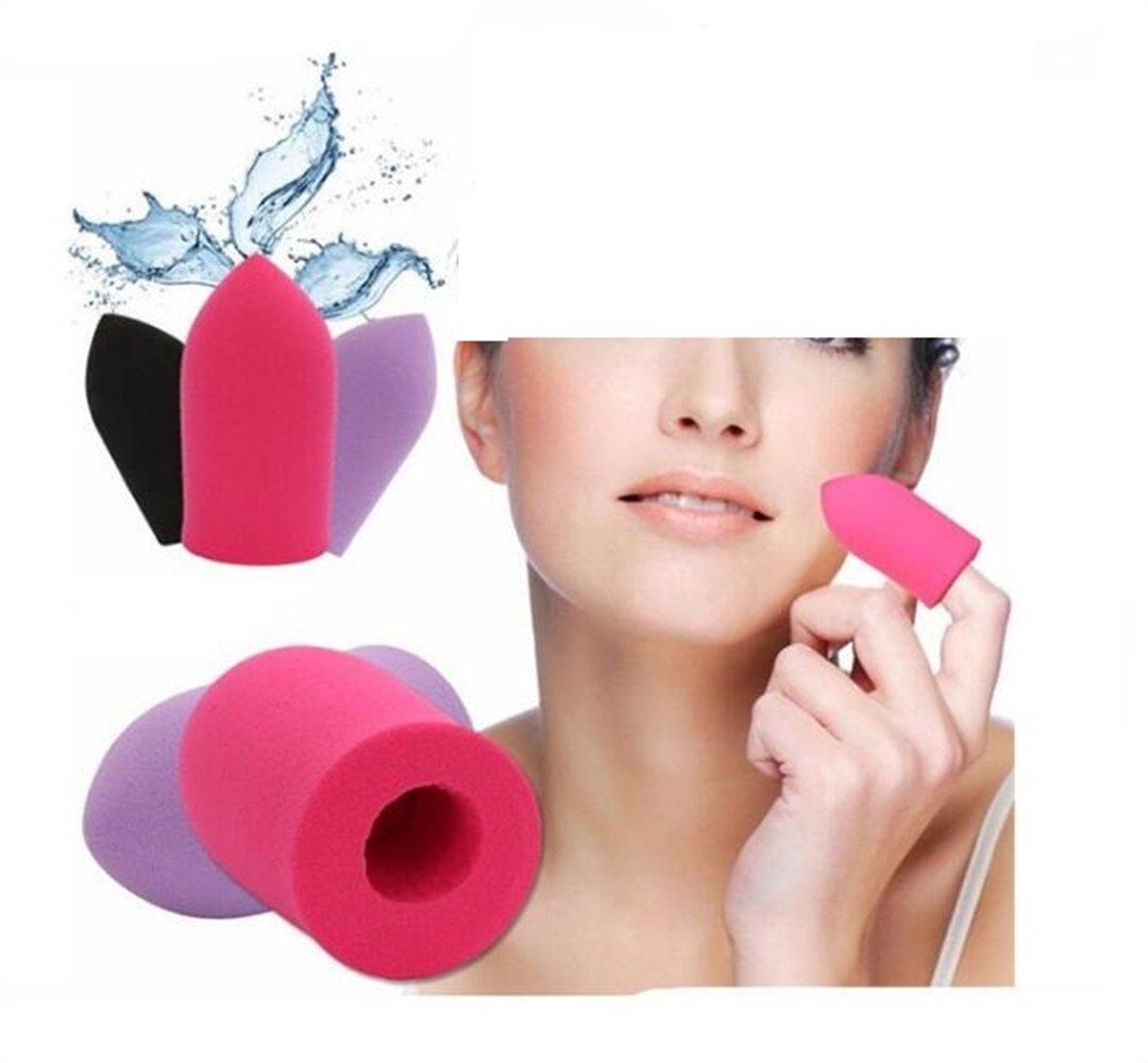 LadyBeauty Mojado y seco de doble uso Pro Beauty Makeup Blender Foundation esponja dedo esponja maquillaje herramientas
