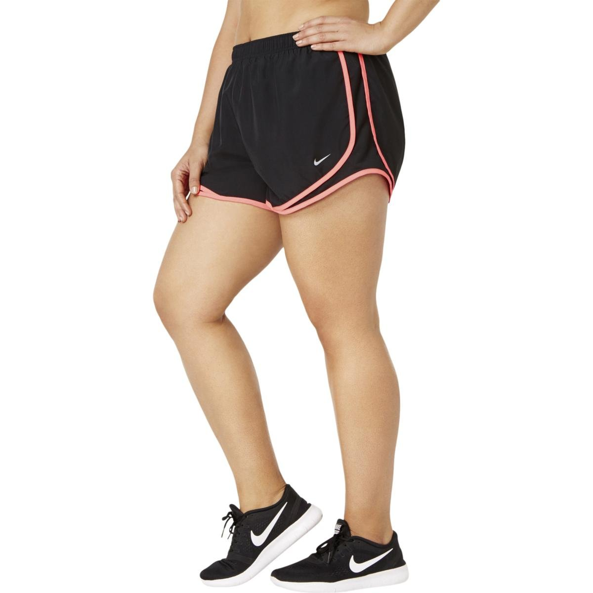 NIKE Womens Plus Tempo Running Fitness Shorts Black 1X
