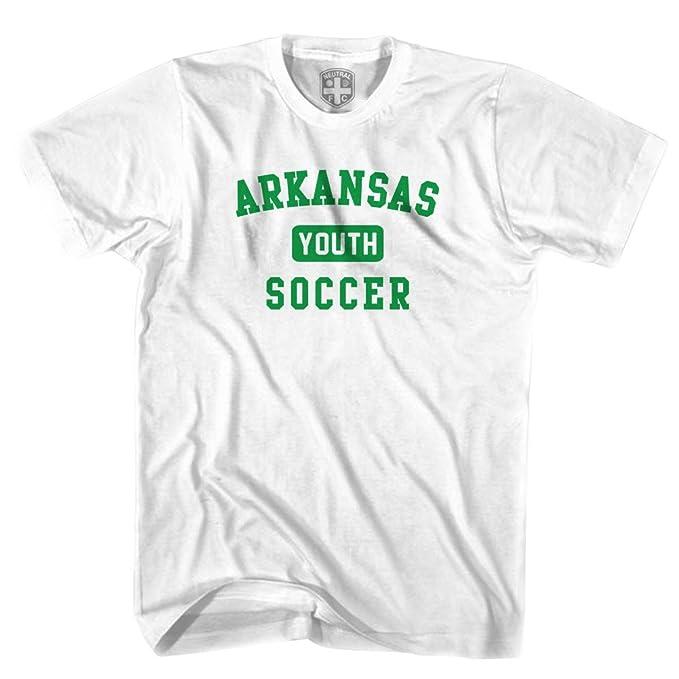 Arkansas juventud camiseta de fútbol gris gris medium