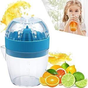 Kitchen Household Handheld Press Squeezer Citrus Juicer Kitchen Household Manual Orange Lemon Squeeze Tool 125ml Portable Home Travel Small Fruit Health Juice Maker