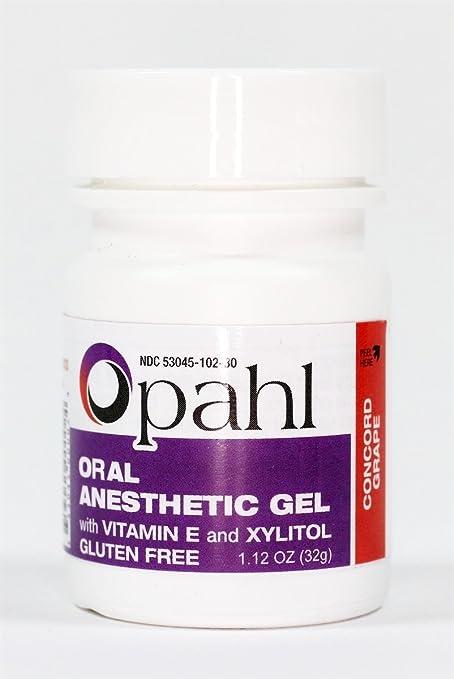 OPAHL Topical Anesthetic Gel 20% Benzocaine CONCORD GRAPE FLAVOR 1.12oz