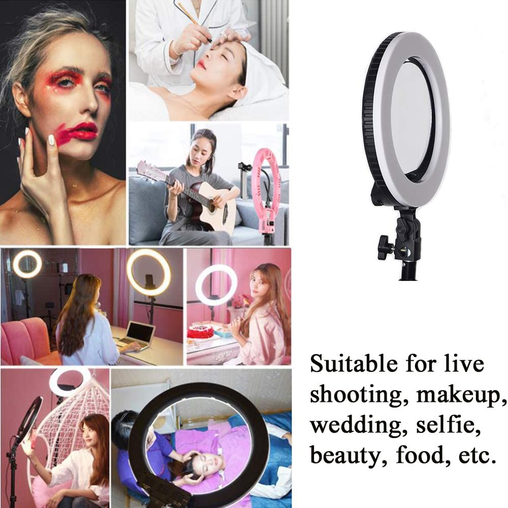 LED Ring Light 10 Tabletop Light lamp Dimmable Lighting for Photography 10 inch Black