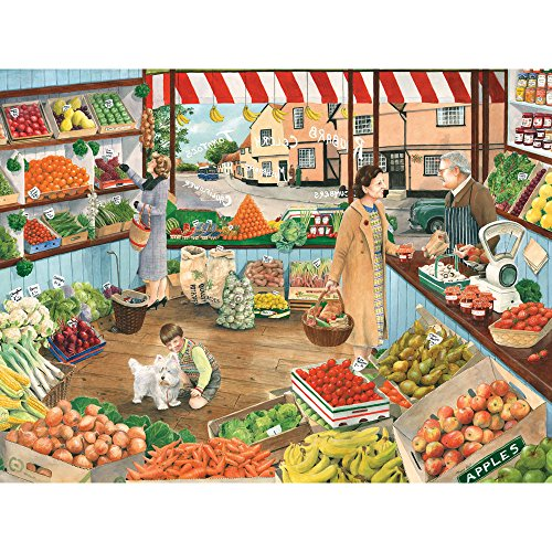 Bits and Pieces - 500 Piece Jigsaw Puzzle for Adults - Green Grocers - 500 pc Produce, Grocery Store Jigsaw by Artist Tracy Hall