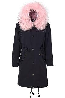 0fa42dcfe3ee7 HX fashion Parka Hiver Femme Elégante Longues avec Fourrure Manteau Manches  Longues Épaissir Chaud Basic Branché