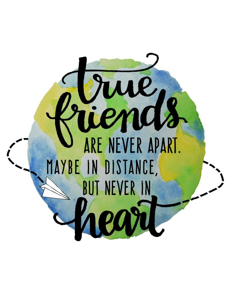 Amazon.com: True Friends Are Never Apart Long Distance ...