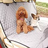 ThinkPet Waterproof Non-slip Nylon Oxford Hammock Design with Anchors Dog Seat Cover,for Cars Trucks and SUVs,Grey