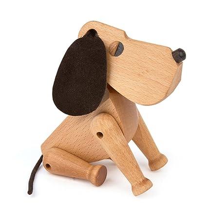 YANJJ Diseño Hecho A Mano Perro Madera Escultura,Wood