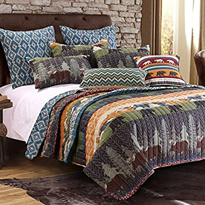 Greenland Home Black Bear Lodge Quilt Set