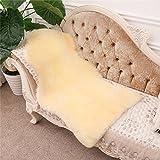 Sheepskin Medical Underlay, Plush and Silky Soft Australian Lambskin, by Light Yellow