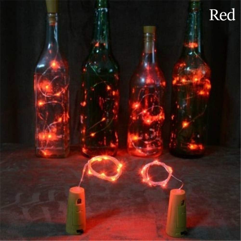 Overstep 20 LED Wine Bottle Lights Solar Bottle Led Lights Starry Wine Bottle Cork Fairy Lights for DIY Party Halloween Christmas Wedding Decoration