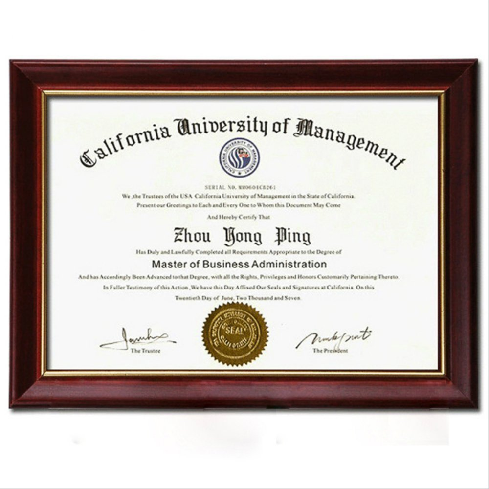 NovoGifts Document Frame Degree Frame Holder Certificate Solid Wood A4 Frame Used in Colleage tianyu
