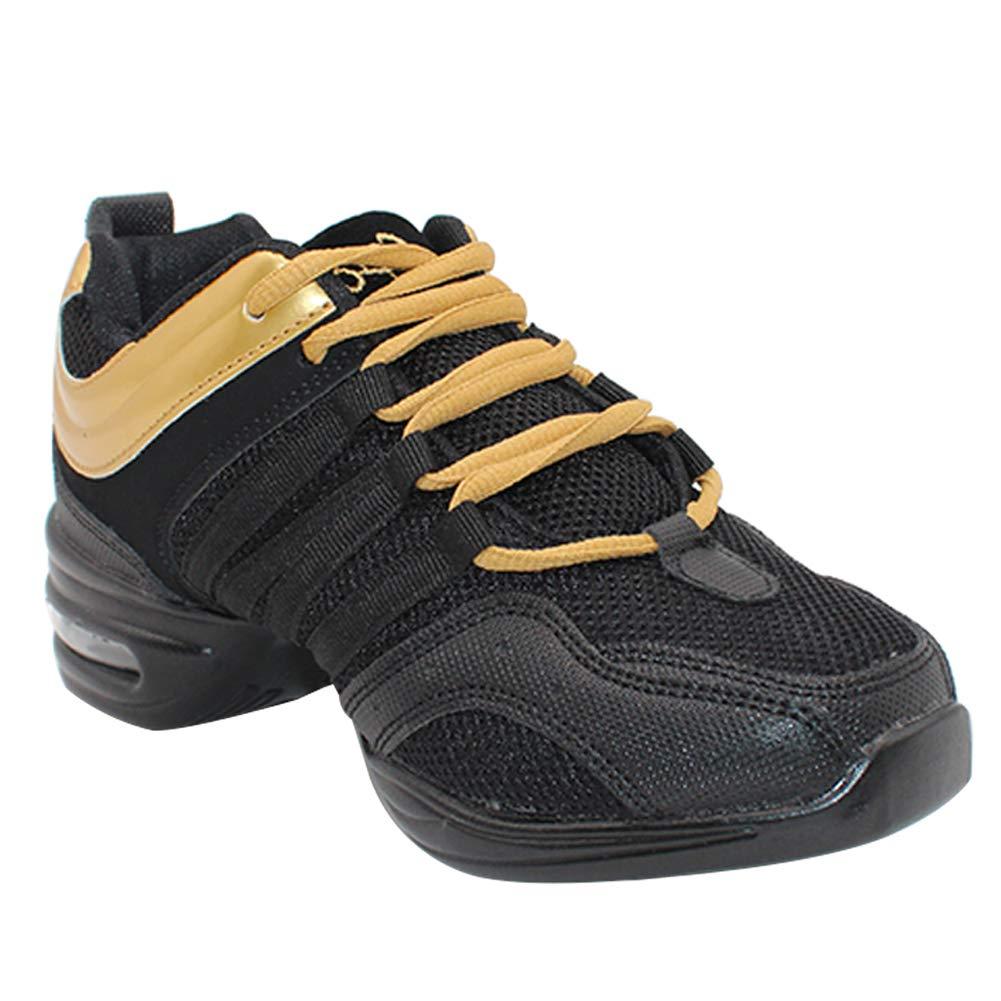 Uirend Zapatos Aire Libre Deportes Danza Mujer - Lona Cordones Suela de Goma Zapatillas Negro Informal Jazz Contemporá neo Baile Practicidad Running Sneaker Spdshoesw729jsffba