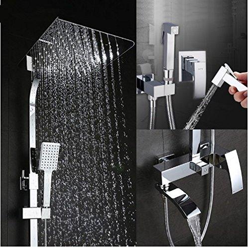 Gowe shower faucet wall mount bidet faucet Rainfall shower mixer tap muslim toilet sprayer bath shower set shower system 0