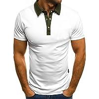 Camiseta para Hombre,Verano Polo Camiseta Deporte Manga Corta Color sólido Moda Diario Slim Fit Casuales T-Shirt Blusas Camisas algodón Suave básica Camisetas Varios Modelos vpass