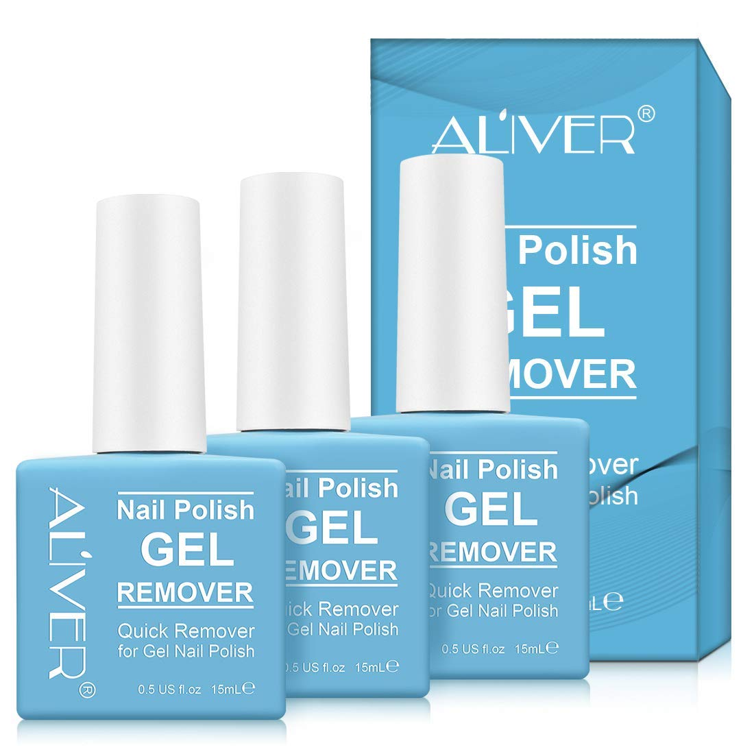 Magic Nail Polish Remover 3Pack, Remove Gel Nail Polish in 2-3 Minutes, Simple to Use on Shellec, UV Polish, Nail Extensions without Foil & Clips, Soak off Polish & Wrap away it,Not Hurt Nails,Blue