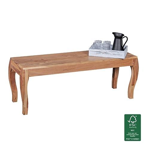 Esszimmerbank Holz Akazie Massiv 160 cm ohne Lehne | Sitzbank ...