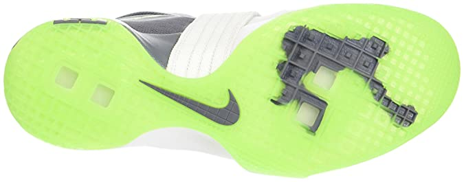 Amazon.com | NIKE Lebron Soldier X (Dunkman) White/Cool Grey-Electric Green (12) | Basketball