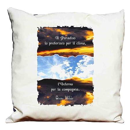Cuscini D Autore.Cuscino Decorativo Frasi D Autore Oscar Wilde 6 Amazon It Casa