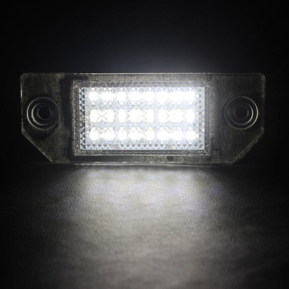 1/Paar Auto hinten Lampe Anzahl Teller Lichter 5/W 6000/K Kennzeichenbeleuchtung