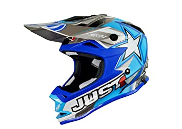 Just 1 Helmets - J32 Moto X Casco de Motocross, Azul, S: Amazon.es: Coche y moto