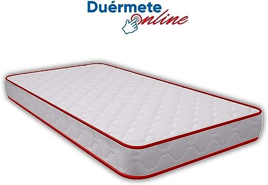 Duérmete Online - Colchón Juvenil Vale Reversible Eliocel Grosor 15cm con Doble Cara (Invierno/Verano) Fabricado en España, Muy Transpirable, 90x190: Amazon.es: Juguetes y juegos