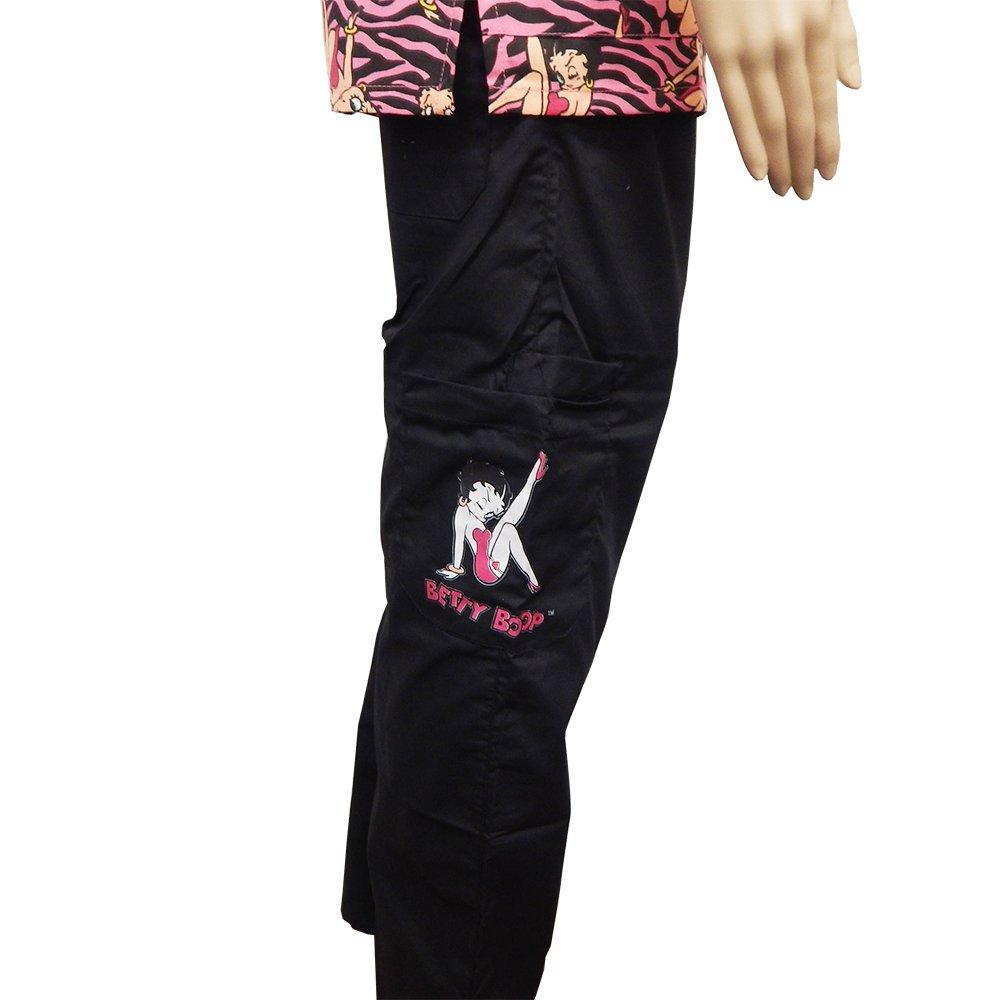 a67b529bd76 Amazon.com: Betty Boop Fashion Medical 2-Piece Scrub Set Top and Pants,  Work Safety (Small, Black Zebra): Clothing