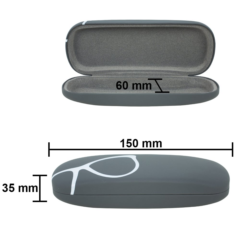 By OptiPlix Protective Case for Glasses and Sunglasses Hard Shell Eyeglass Case