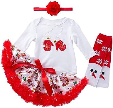 BBSMLIN 0-24 Meses Bebe Niña Navidad Disfraz Ropa de Conjunto ...