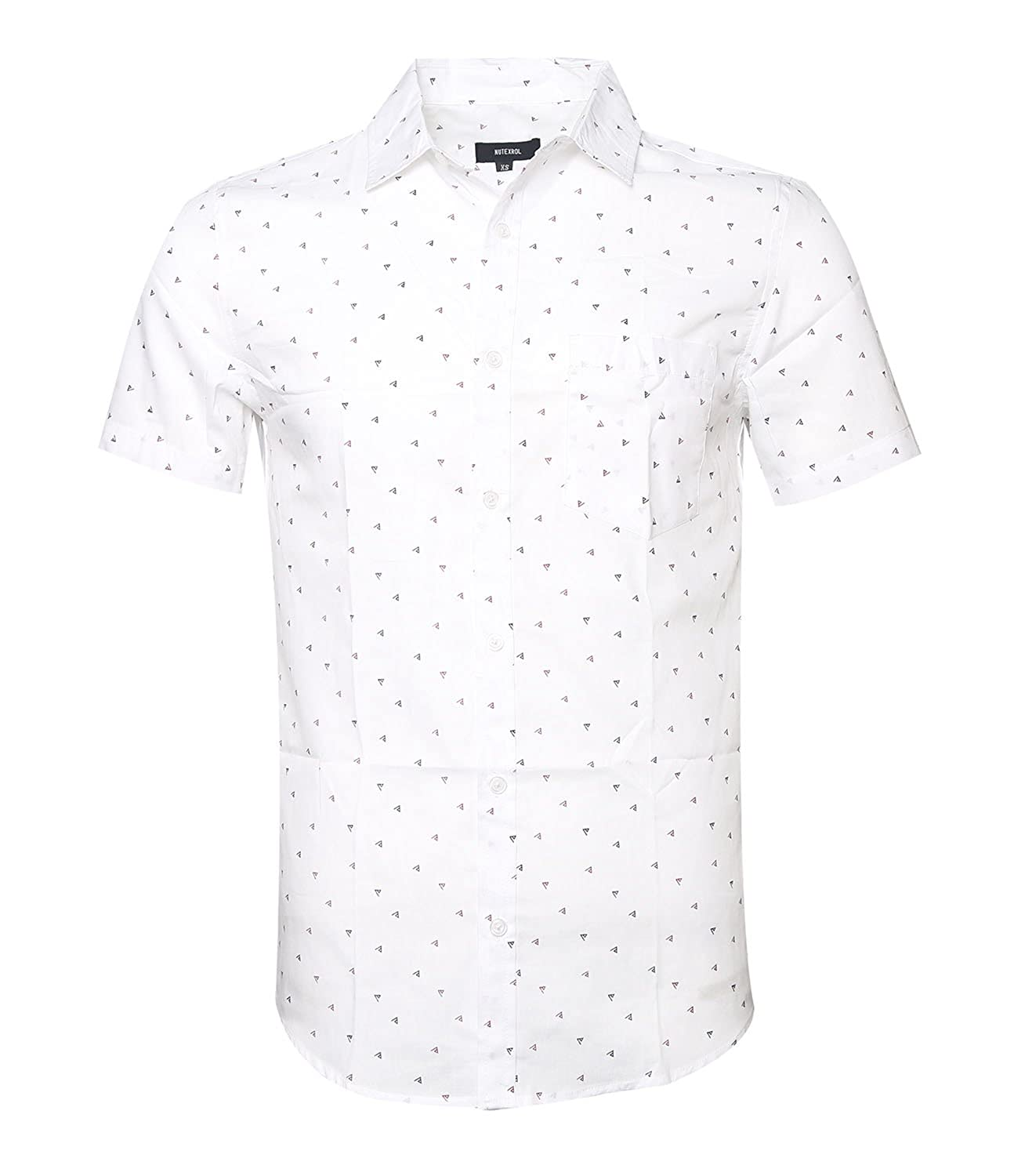 63a44a9aca2 Amazon.com  NUTEXROL Men s Printed Short Sleeve Button Down Work Casual  Western Shirt  Clothing