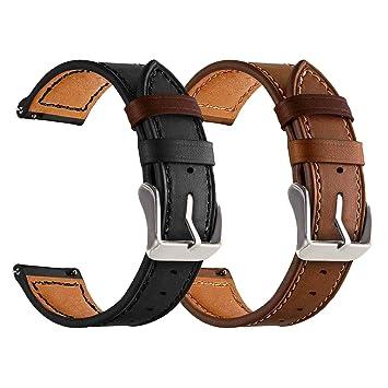 YaYuu Gear S3 Frontier/Classic Cuero Correa de Reloj Samsung ...