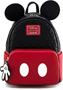 Loungefly Disney Mickey Mouse Oh Boy Quilted Womens Mini Backpack Purse